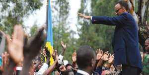 "President Paul Kagame during a visit to Ruhango village. He has appointed a three-member taskforce to come up with a formula that would deliver ""change, continuity and stability"" after 2017. Photo/Cyril Ndegeya  Nation Media Group"